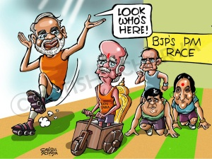 Modi cartoon